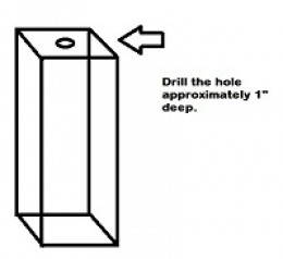 Drill hole in studs