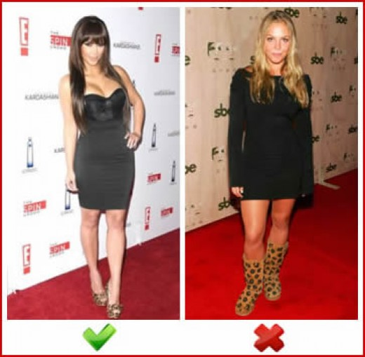 Fashionista or Fashion Faux Pas? Kim Kardashian gets it right, whilst Agnes Brucker misses the mark