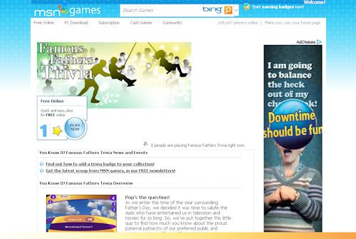 Screenshot of MSN.com