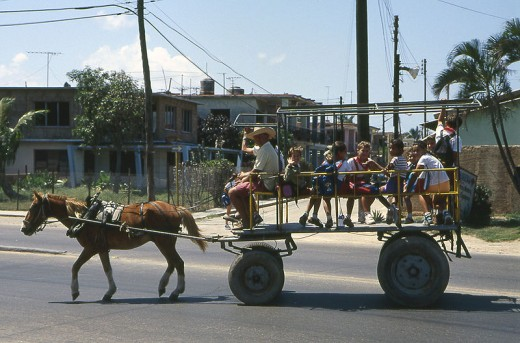 We still beat Cuba, here a Cuban school bus