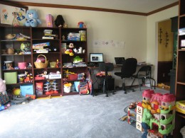 I cannot stress enough the power of 5 minutes...it transformed this room.