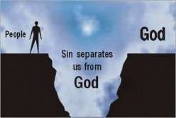 Sin is a barrier between us and God.