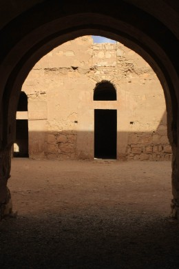 The courtyard of Qasr al-Kharana