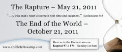 False prophets predicting the end of the world and the Rapture will be plentiful.  This is another sign stated in the Bible that will be happening close to Rapture.