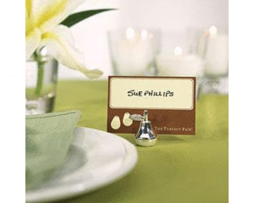 Silver Pear Place Card Holders