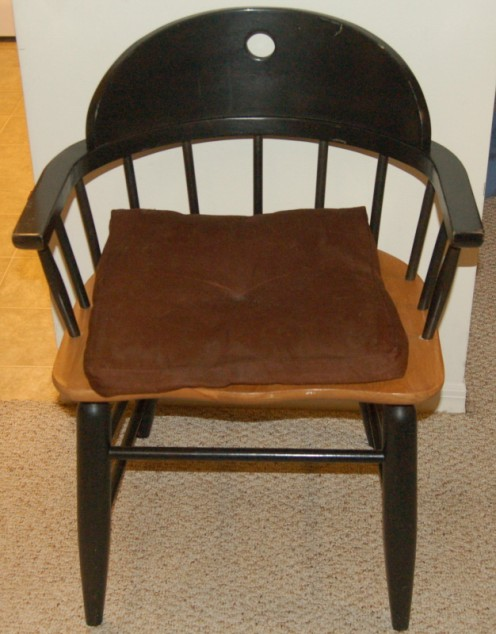 Basic chair...black finish with wood seat