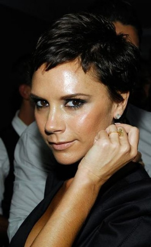 Victoria Beckham and her pixie look