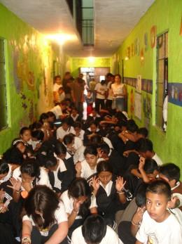 Guatemalan Students Praying for Us