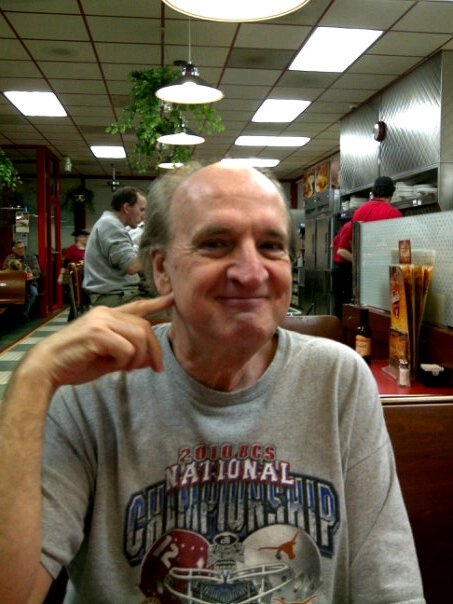 "Kenneth Avery at ""my office,"" Huddle House, Hamilton, AL."