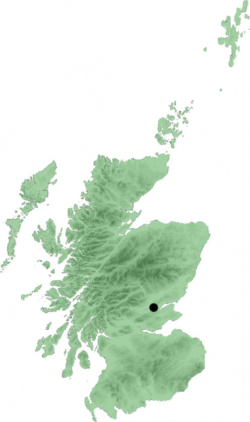 Map location of Perth, Scotland
