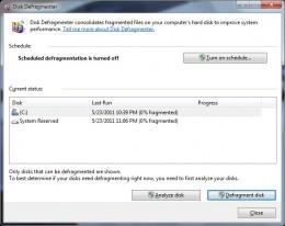 disk defragmenter program
