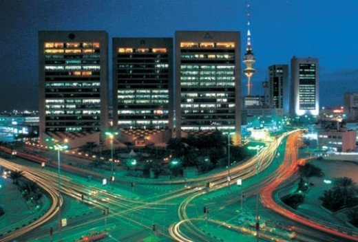 Glittering Kuwait in Night