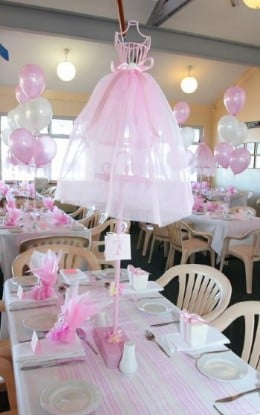 Ballerina party ideas that are right on pointe for Ballerina birthday decoration ideas