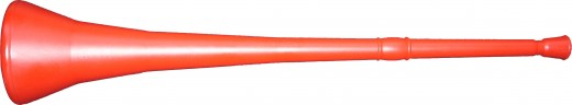 A red vuvuzela