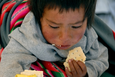 Putting God's Word into action can feed the world's children, like this Bolivian child.