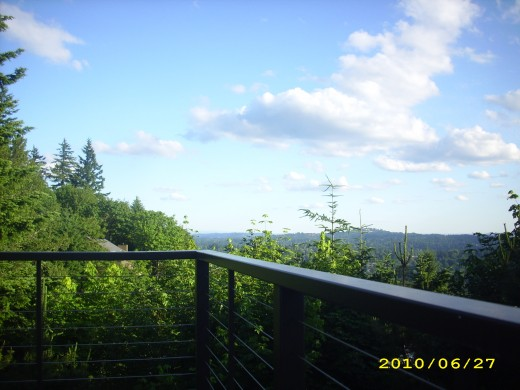 Portland, Oregon: Capitol Hill from my brother's veranda