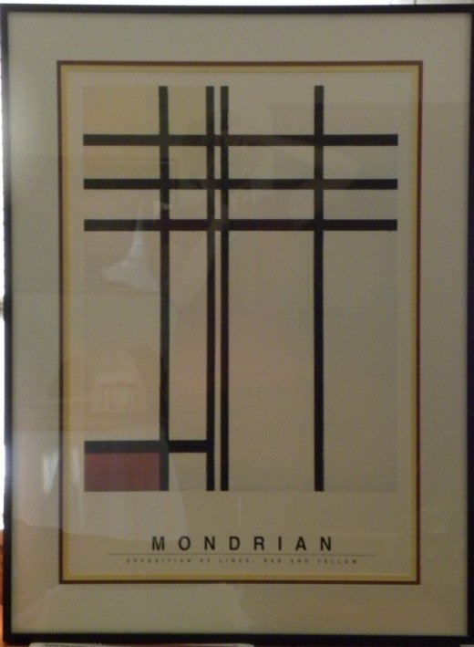 Mondrian's Opposition of Lines: Red and Yellow