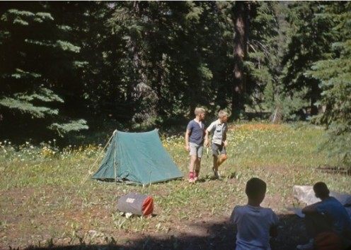 This is the type of tent Dave and I camped in the backyard with.