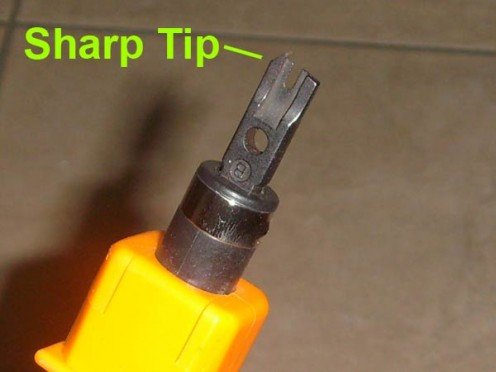 Pay attention to the sharper tip