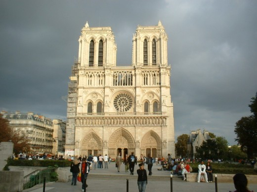 The square at Notre Dame Cathedral, Paris