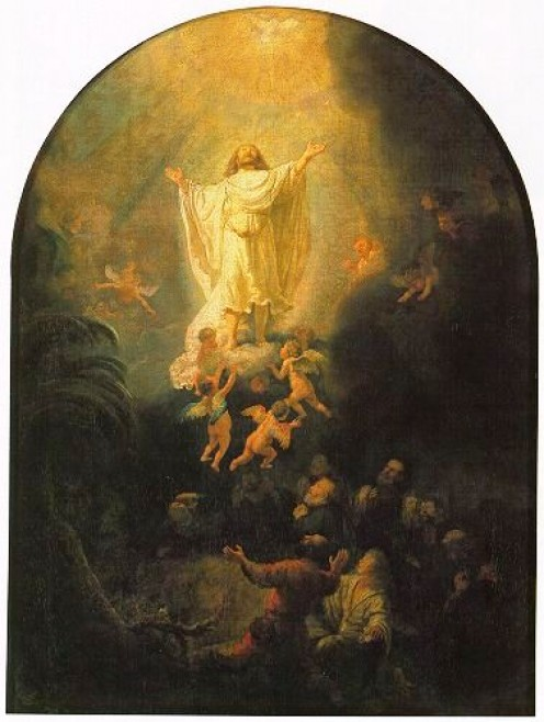 The Ascension of Christ, Rembrandt Van Rijn (1606-1669)