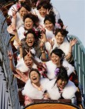 Adult day ceremony, girls usually dress up in Kimono, drink with friends and go to the Disneyland.
