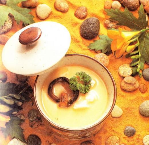 Chawanmushi soup.
