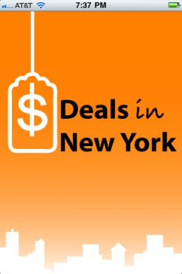Deals in New York iPhone App
