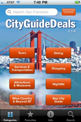 San Francisco Deal Categories