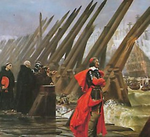 Cardinal Richelieu during the Seige of La Rochelle