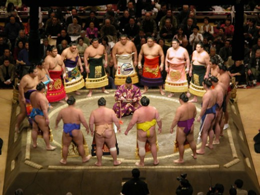 Sumo - event of the Shinto religion.