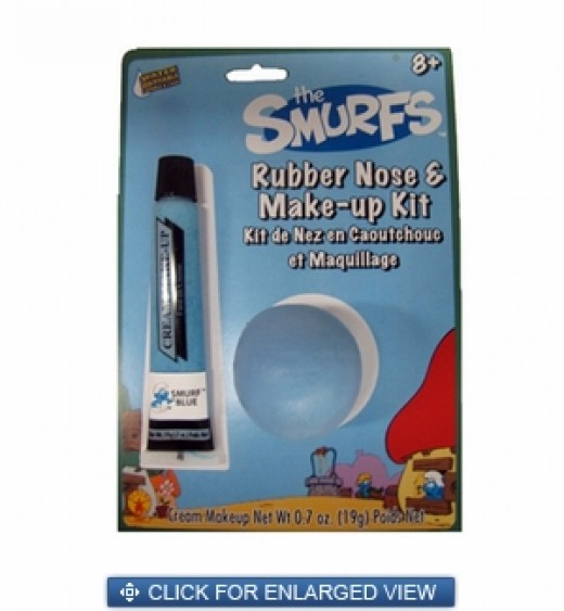 Smurfs Rubber Nose & Make-Up Kit