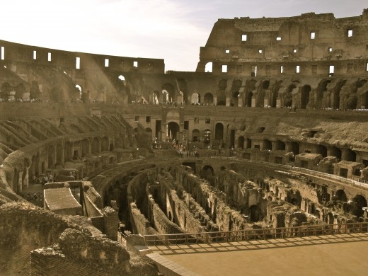 The Roman Colosseum, the setting for many of the stories in Foxe's Book of Martyrs.
