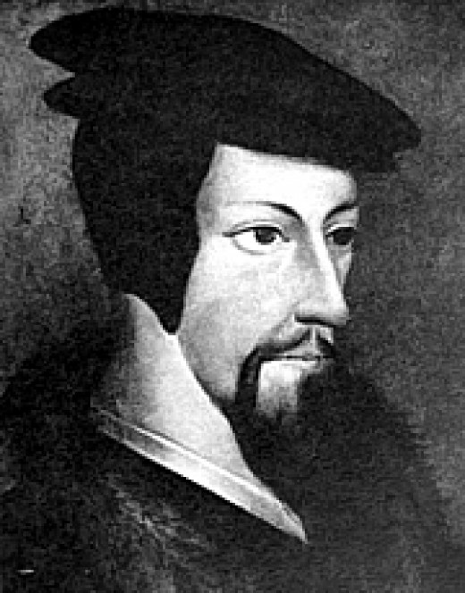 John Calvin, author of the Institutes of the Christian Religion.