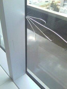 Edge Impact glass breakage