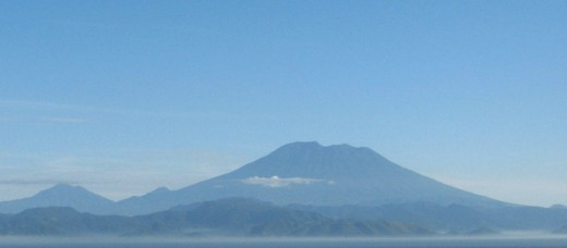 Mount Agung dominates the landscape of East Bali