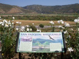 Above the sign is the Battlefield