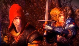 Witcher 2 Saskia (with Geralt on the left)