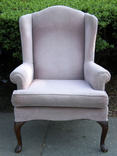Upholstered chair for the home.