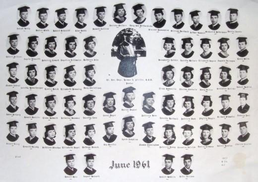One half of graduating class