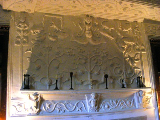 Plasterwork, fireplace