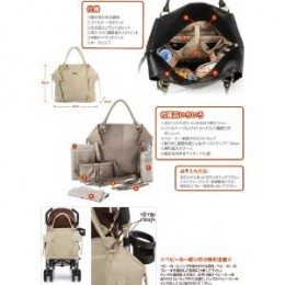 A baby bag with many features