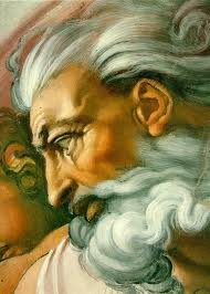 Yahweh as Michelangelo saw him; he is the God of the Israelites and he is described as a very powerful God, since it is believed that he is omnipotent and everything else.