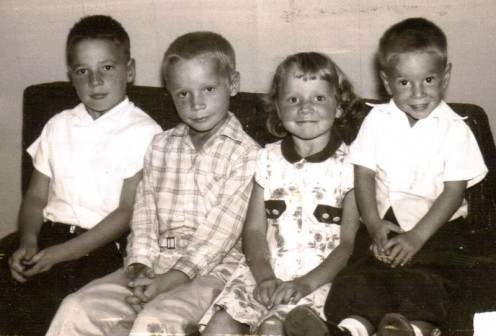 My grandma's four children, sitting in order of age.