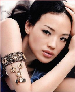 Shu Qi displaying her armlet