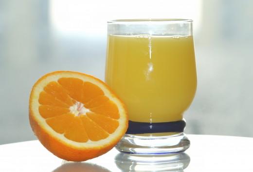 Oranges have high vitamin C content.