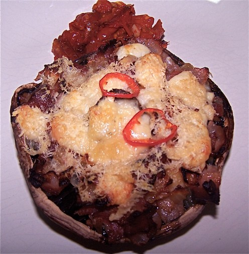Mozzarella and Bacon Stuffed Mushrooms: An Easy Starter, Snack or ...