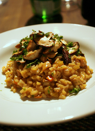 A good risotto will have its own creamy sauce, but still remain firm