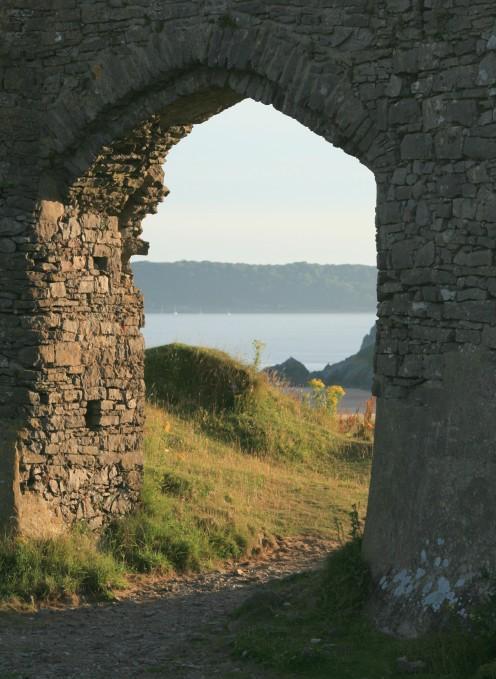 Looking towards Oxwich from Pennard Castle