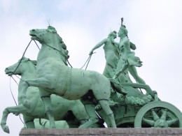 Quadriga detail, Triumphal Arch, Brussels